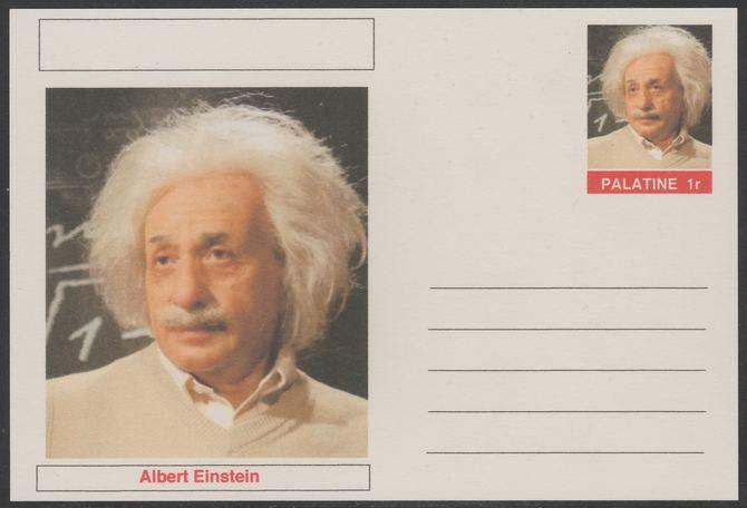 Palatine (Fantasy) Personalities - Albert Einstein postal stationery card unused and fine