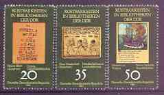 Germany - East 1981 Precious Books perf set of 3 unmounted mint, SG E2348-50