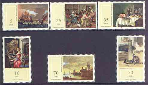 Germany - East 1982 Paintings in Schwerin State Museum perf set of 6 unmounted mint, SG E 2434-39
