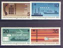 Germany - East 1983 World Communications Year perf set of 4 unmounted mint, SG E2487-90