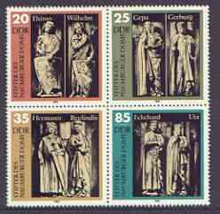 Germany - East 1983 Founders of Naumberg Cathedral set of 4 in se-tenant block unmounted mint, SG E2525a