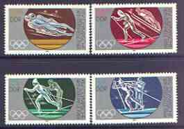 Germany - East 1983 Sarajeva Winter Olympic Games perf set of 4 unmounted mint, SG E2554-57