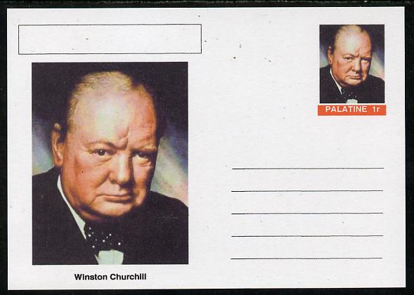 Palatine (Fantasy) Personalities - Winston Churchill postal stationery card unused and fine