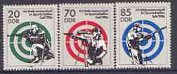 Germany - East 1986 44th World Shooting Championships perf set of 3 unmounted mint, SG E2754-56