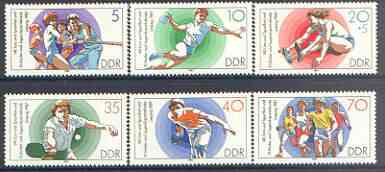 Germany - East 1987 Gymnastics & Sports Festival perf set of 6 unmounted mint, SG E2817-22