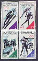 Germany - East 1988 Calgary Winter Olympics perf set of 4 unmounted mint, SG E2843-46