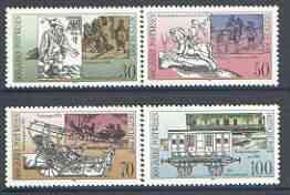 Germany - East 1990 500th Anniversary of Regular Postal Services (2nd issue) perf set of 4 unmounted mint, SG E3050-53