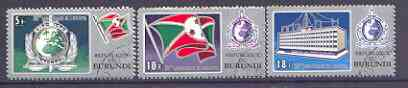 Burundi 1973 Interpol 'Postage' set of 3 fine used, SG 811-13