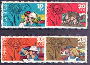 Germany - East 1984 35th Anniversary of German Democratic Republic (3rd issue) perf set of 4 unmounted mint, SG E22609-12