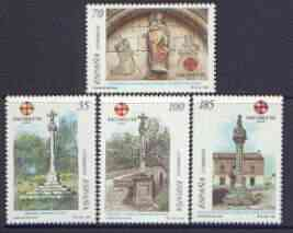 Spain 1999 St James's Holy Year perf set of 4 unmounted mint, SG 3552-55