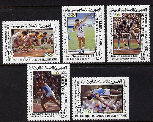 Mauritania 1984 Olympic Games set of 5 unmounted mint (SG 796-800)*