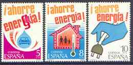 Spain 1979 Energy Conservation perf set of 3 unmounted mint, SG 2556-58