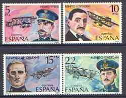 Spain 1980 Aviation Pioneers perf set of 4 unmounted mint, SG 2631-34