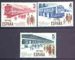 Spain 1980 Public Transport perf set of 3 unmounted mint, SG 2606-08
