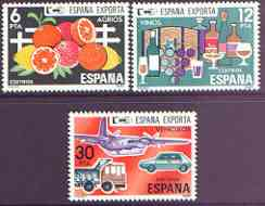 Spain 1981 Spanish Exports (2nd issue) perf set of 3 unmounted mint, SG 2653-55