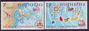 Spain 1981 Spanish Islands perf set of 2 unmounted mint, SG 2649-50