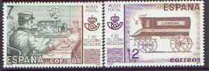 Spain 1981 Postal & Telecommunications Museum perf set of 2 unmounted mint, SG 2663-64
