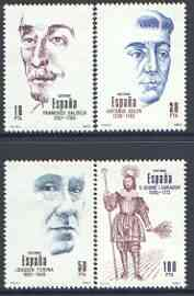 Spain 1983 Spanish Celebrities perf set of 4 unmounted mint, SG 2721-24