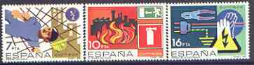 Spain 1984 Safety at Work perf set of 3 unmounted mint, SG 2752-54