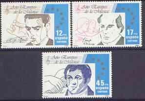 Spain 1985 European Music Year perf set of 3 unmounted mint, 2832-34