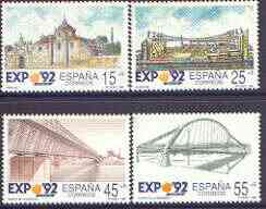Spain 1991 Expo '92 World's Fair (6th issue) perf set of 4 unmounted mint, SG 3094-97
