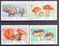 Spain 1993 Fungi (1st issue) perf set of 4 unmounted mint, SG 3205-08