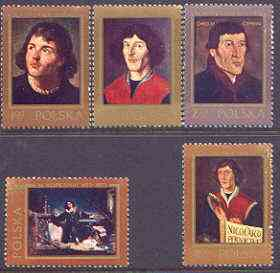 Poland 1973 500th Birth Anniversary of Copernicus (6th issue) perf set of 5 unmounted mint, SG 2217-21