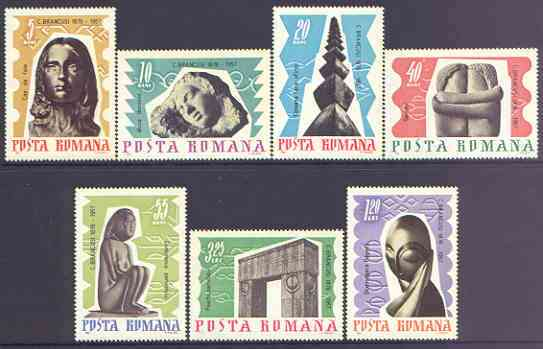 Rumania 1967 Sculptures by C Brancusi perf set of 7 unmounted mint, SG 3456-62