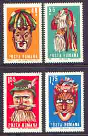 Rumania 1969 Folklore Masks perf set of 4 unmounted mint, SG 3681-84