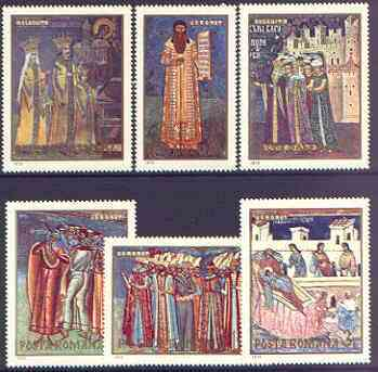 Rumania 1970 Frescoes from Monasteries #2 set of 6 unmounted mint, SG 3736-41