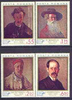 Rumania 1972 Portraits perf set of 4 unmounted mint, SG 3922-25