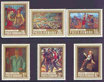 Rumania 1973 Paintings of Workers perf set of 6 unmounted mint, SG 4025-30