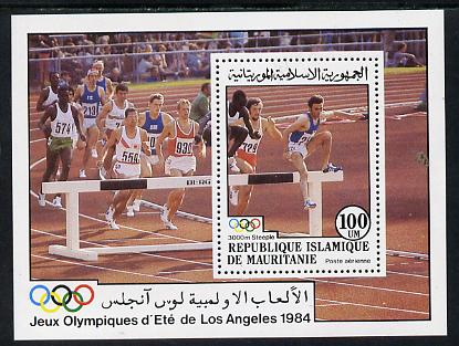 Mauritania 1984 Olympic Games 100um m/sheet (Steeplechase) unmounted mint