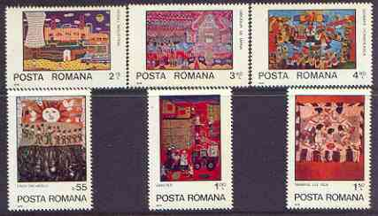 Rumania 1979 International Year of the Child (Paintings) perf set of 6 unmounted mint, SG 4436-41