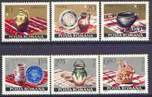 Rumania 1973 Ceramics perf set of 6 unmounted mint, SG 4018-23