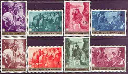 Rwanda 1967 Paintings perf set of 8 unmounted mint, SG 208-15