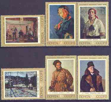 Russia 1972 History of Russian Painting perf set of 6 unmounted mint, SG 4123-28