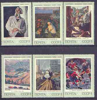 Russia 1973 History of Russian Painting perf set of 6 unmounted mint, SG 4193-98