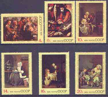 Russia 1974 Foreign Paintings in Soviet Galleries perf set of 6 unmounted mint, SG 4343-48