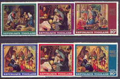 Togo 1968 Christmas - Paintings perf set of 6 unmounted mint SG 621-26