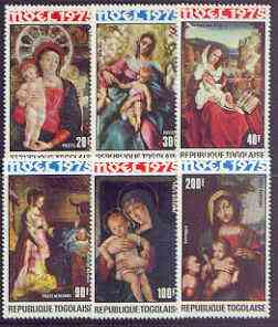 Togo 1975 Christmas - Paintings of 'Virgin & Child' perf set of 6 unmounted mint SG 1110-15