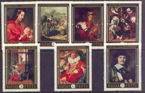 Hungary 1969 Dutch Paintings in Hungarian Museums perf set of 7 unmounted mint, SG 2495-2501