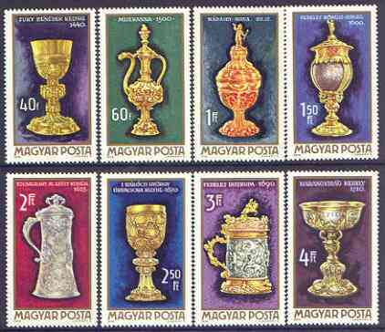 Hungary 1970 Goldsmith's Craft - Treasures from National Museum perf set of 8 unmounted mint, SG 2554-61