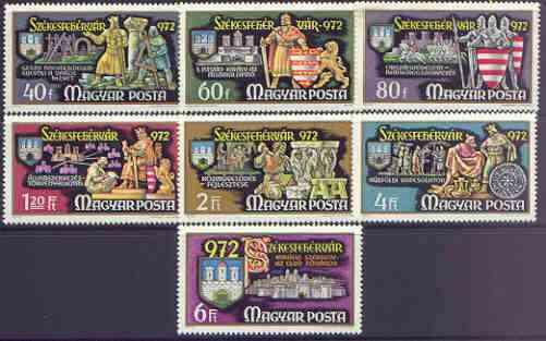 Hungary 1972 Millenary of Szekesfehervar perf set of 7 unmounted mint, SG 2696-2702