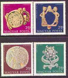 Hungary 1973 Jewelled Treasures perf set of 4 unmounted mint, SG 2830-33, stamps on jewellry, stamps on