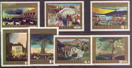 Hungary 1973 Paintings by Csontvary Kosztka perf set of 7 unmounted mint, SG 2811-17