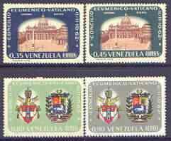 Venezuela 1963 Ecumenical Council, Vatican City perf set of 4 unmounted mint, SG 1783-86