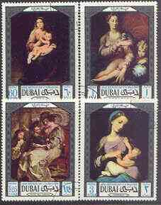 Dubai 1969 Arab Mothers' Day - Paintings perf set of 4 fine used, SG 325-28