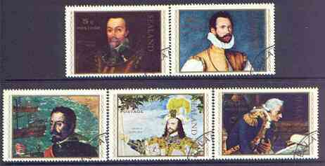 Sealand 1970 Admirals & Pirates perf set of 5 cto used