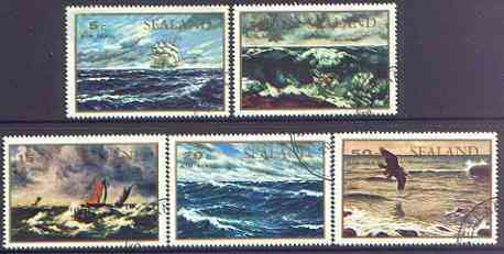 Sealand 1970 Seascapes perf set of 5 cto used